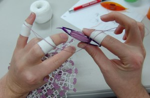 Tatting with Bandages