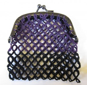 Black and Purple Purse