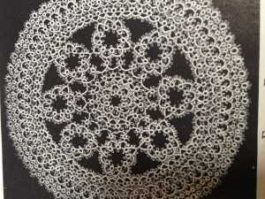 Doily from book